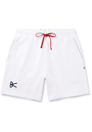 DISTRICT VISION - Reigning Champ Retreat Loopback Cotton-Jersey Shorts - Men - White