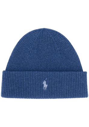 Polo Ralph Lauren embroidered logo beanie - Blue