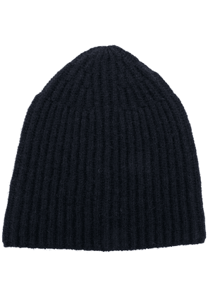 Roberto Collina ribbed knitted beanie - Blue