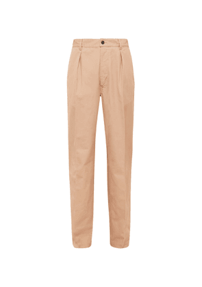 Drake's - Pleated Linen Suit Trousers - Men - Pink