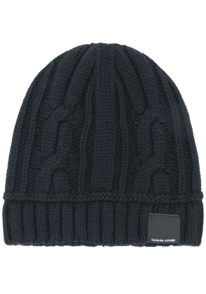 Canada Goose cable knit beanie - Black