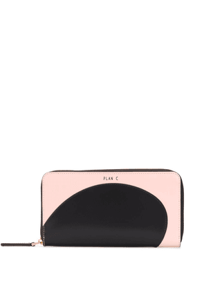 Plan C two-tone all-round zip wallet - PINK