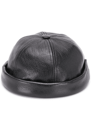 Junya Watanabe MAN leather brimless cap - Black