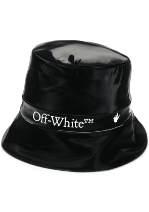Off-White LOGO RAIN CAP BLACK WHITE