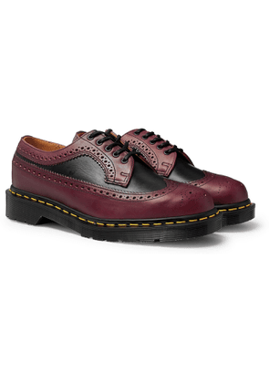 Dr. Martens - 3989 Two-Tone Leather Brogues - Men - Burgundy