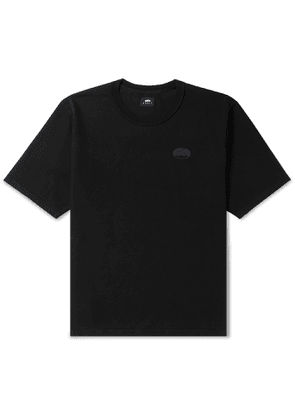 EDWIN - Embroidered Cotton-Jersey T-Shirt - Men - Black