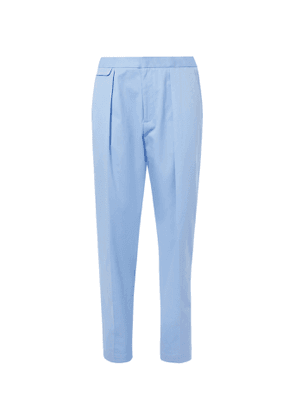 EQUIPMENT - The Original Tapered Pleated Lyocell and Cotton-Blend Trousers - Men - Blue