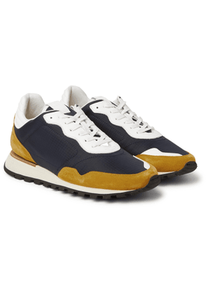 Dunhill - Axis Ripstop, Suede and Leather Sneakers - Men - Blue