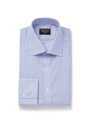 Emma Willis - Slim-Fit Striped Cotton-Poplin Shirt - Men - Blue