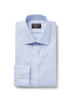 Emma Willis - Slim-Fit Checked Cotton Oxford Shirt - Men - Blue