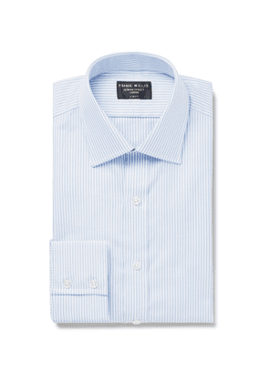 Emma Willis - Sky-Blue Slim-Fit Pinstriped Cotton Oxford Shirt - Men - Blue
