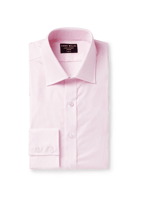 Emma Willis - Slim-Fit Striped Cotton Oxford Shirt - Men - Pink