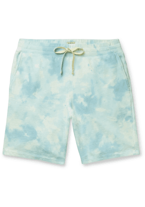 Faherty - Cross Creek Tie-Dyed Loopback Cotton-Jersey Shorts - Men - Blue