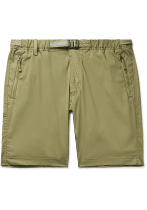 Faherty - Rockpoint Belted Cotton-Blend Shell Shorts - Men - Neutrals