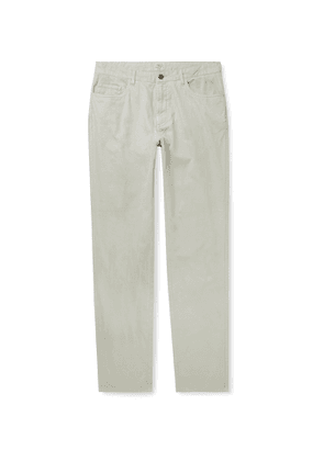 Faherty - Del Mar Stretch-Cotton and Linen-Blend Trousers - Men - Gray