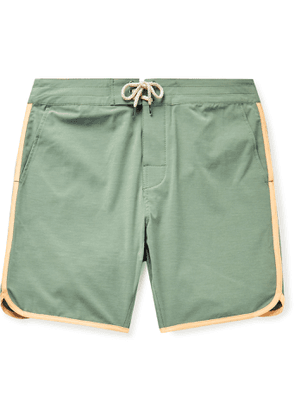 Faherty - Sunset Mid-Length Contrast-Trimmed Swim Shorts - Men - Green