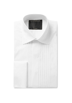Favourbrook - Bib-Front Double-Cuff Cotton-Poplin Shirt - Men - White