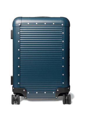 FPM Milano - Spinner 53cm Leather-Trimmed Aluminium Carry-On Suitcase - Men - Blue