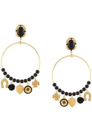 Dolce & Gabbana pendant hoop earrings - GOLD