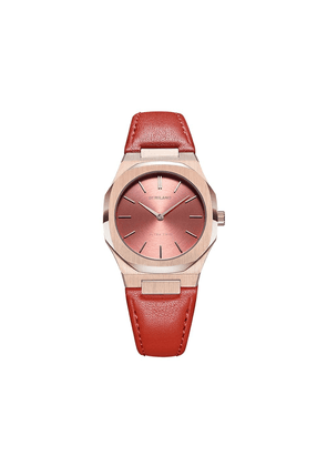 D1 Milano leather strap watch - GOLD