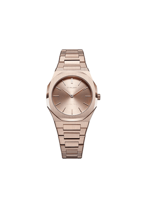 D1 Milano round face stainless steel watch - PINK