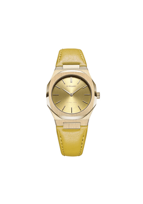 D1 Milano leather strap watch - Yellow