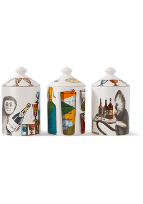 Fornasetti - Sweet Drinks Set of Three Scented Candles, 3 x 300g - Men - Colorless