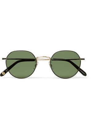 GARRETT LEIGHT CALIFORNIA OPTICAL - Robson Round-Frame Gold-Tone Stainless Steel Sunglasses - Men - Gold