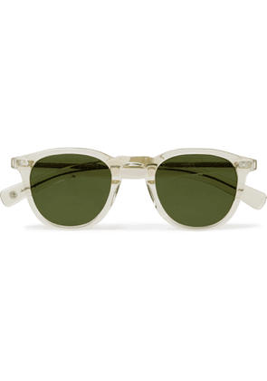 GARRETT LEIGHT CALIFORNIA OPTICAL - Hampton X Round-Frame Acetate Sunglasses - Men - Neutrals