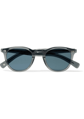 GARRETT LEIGHT CALIFORNIA OPTICAL - Hampton X Round-Frame Acetate Sunglasses - Men - Gray
