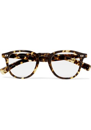 GARRETT LEIGHT CALIFORNIA OPTICAL - Hampton X Round-Frame Tortoiseshell Acetate Optical Glasses - Men - Brown