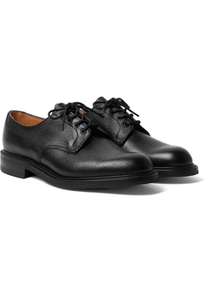 George Cleverley - Archie II Textured-Leather Derby Shoes - Men - Black