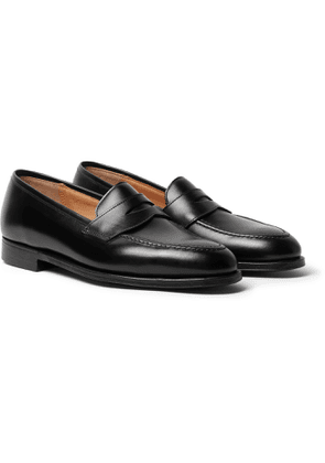 George Cleverley - Bradley Textured-Leather Penny Loafers - Men - Black
