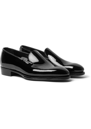 George Cleverley - Positano Waxed-Cotton Loafers - Men - Black