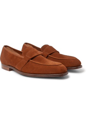George Cleverley - Owen Suede Penny Loafers - Men - Brown
