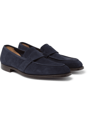 George Cleverley - Owen Suede Penny Loafers - Men - Blue