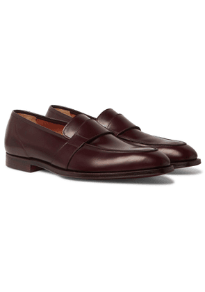 George Cleverley - Owen Suede Penny Loafers - Men - Burgundy
