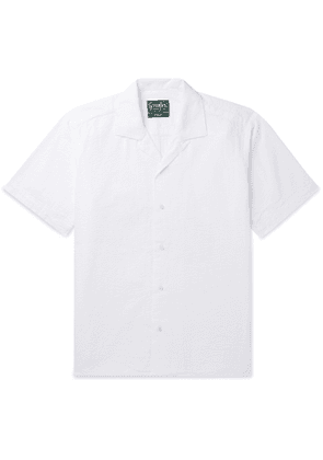 Gitman Vintage - Convertible-Collar Cotton-Seersucker Shirt - Men - White
