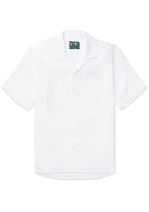 Gitman Vintage - Camp-Collar Linen Shirt - Men - White