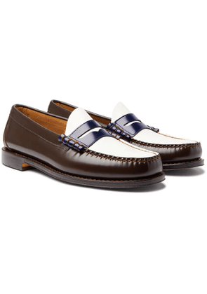 G.H. Bass & Co. - Weejuns Heritage Larson Colour-Block Leather Penny Loafers - Men - Brown