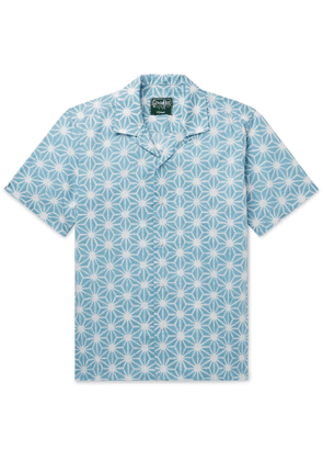 Gitman Vintage - Convertible-Collar Printed Cotton Shirt - Men - Blue