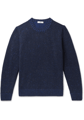 Inis Meáin - Donegal Merino Wool and Cashmere-Blend Sweater - Men - Blue
