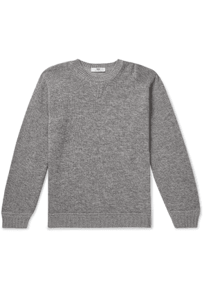 Inis Meáin - Mélange Merino Wool, Alpaca and Silk-Blend Sweater - Men - Gray