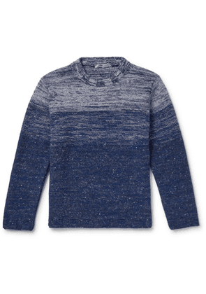 Inis Meáin - Dégradé Merino Wool and Cashmere-Blend Mock-Neck Sweater - Men - Blue