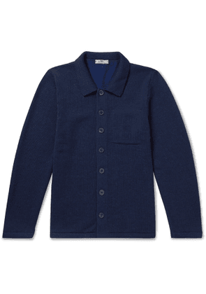 Inis Meáin - Merino Wool, Alpaca and Silk-Blend Cardigan - Men - Blue