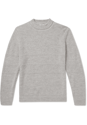Inis Meáin - Mélange Textured Baby Alpaca Sweater - Men - Gray