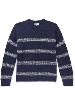 Isabel Marant - Oblinca Striped Intarsia Knitted Sweater - Men - Blue
