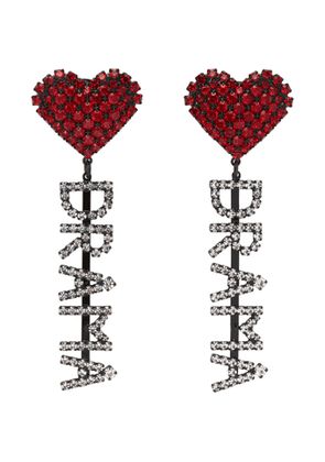 Ashley Williams Red and Transparent Drama Earrings