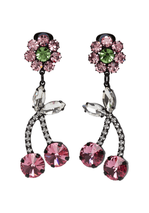 Ashley Williams Pink Crystal Cherry Earrings