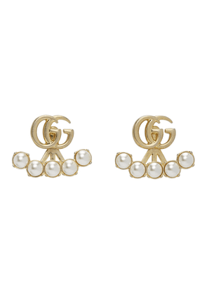 Gucci Gold Double G Pearl Marmont Earrings
